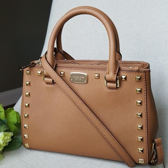 5447f70a44eaa9 Michael Kors Bags | Xs Studded Kellen Satchel Bag Acorn | Poshmark